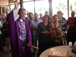 Parishioners of St Joseph the Worker with Fr Joseph Yu celebrating his 80th birthday. Photo: St Joseph the Worker, Reservoir North