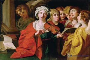 Jigsaw puzzle St. Cecilia with a Choir (oil on canvas) Domenichino