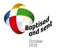 The logo of the Extraordinary Missionary Month October 2019
