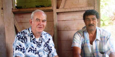 (left) Fr Francis Hoare SSC was ordained in 1973 and has been a Columban missionary in Fiji, Australia and the United States. He is the current Vice Director of Fiji.