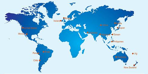 Columban Missionaries work in 17 countries including: Australia, New Zealand, Fiji, Britain, Ireland, China, Japan, Korea, Myanmar (former Burma), Philippines, Taiwan, Pakistan, Chile, Peru, Brazil, Mexico and the United States.