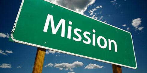 Mission road sign (© Bigstock)